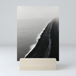 BLACK SAND BEACH Mini Art Print