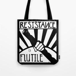 Resistance is Flutile Tote Bag