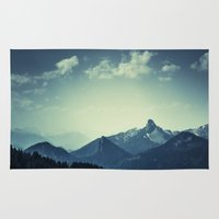 mountains Area & Throw Rugs featuring Mountains by Koka Koala