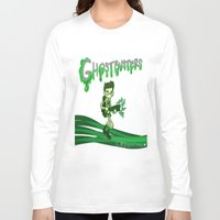 ghostbusters Long Sleeve T-shirts featuring Ghostbusters by Glopesfirestar