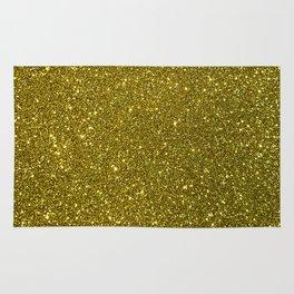 Classic Bright Sparkly Gold Glitter Rug