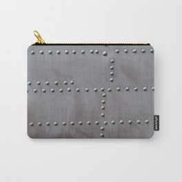 Aviation textures plating of aircraft and helicopter rivets Carry-All Pouch