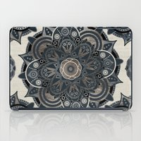 islam iPad Cases featuring Silver Mandala by Mantra Mandala