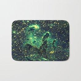 Galaxy NEBULa  : Pillars of Creation Green Bath Mat