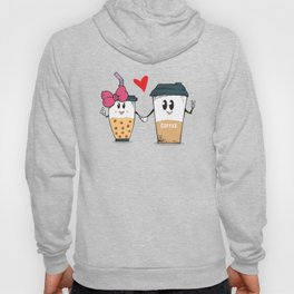 Miss.Bubble Milk Tea and Mr.Coffee say Hello for everyone Hoody