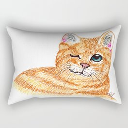 Cat's wink Rectangular Pillow