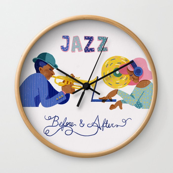 Jazz before & after Wall Clock