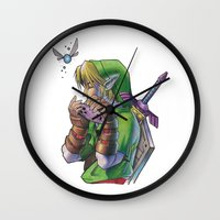 zelda Wall Clocks featuring Zelda by Melina Espinoza