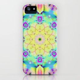 Summer feelings, colourful kaleidoscope design iPhone Case