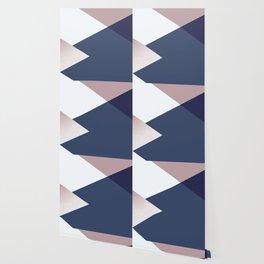 Geometrics - blush indigo rose gold Wallpaper
