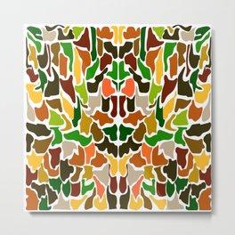 Autumn Camouflage Metal Print