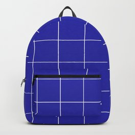 Graph Paper (White & Navy Blue Pattern) Backpack