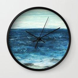 Horizon at the Baltic sea Wall Clock
