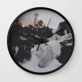 Frozen falls Wall Clock