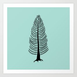 West Coast Cedar Tree Art Print