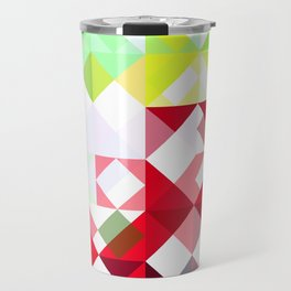 Mixed Color Poinsettias 2 Abstract Triangles 1 Travel Mug