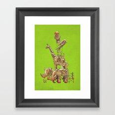 The Clockwork Menagerie (Lime) Framed Art Print