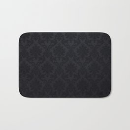 Black damask - Elegant and luxury design Bath Mat