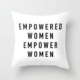 Empowered Women Throw Pillow