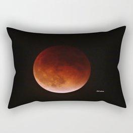 Blood Moon through Southern California Haze Rectangular Pillow