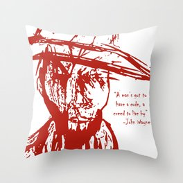 Cowboy Creed Throw Pillow