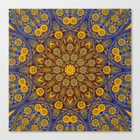 morrocan Canvas Prints featuring Vintage Morrocan Tile by Blooming Vine Design