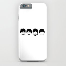 The Fab Four Sillouette iPhone Case