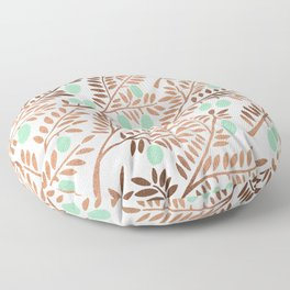 Olive Branches – Rose Gold & Mint Floor Pillow