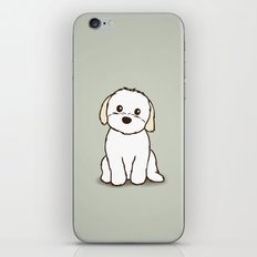 Shih Tzu and Maltese Mix Puppy Illustration iPhone & iPod Skin