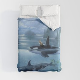 Isabella and the Pod Duvet Cover