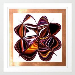 Digitally Created Colorful Clover Art Print