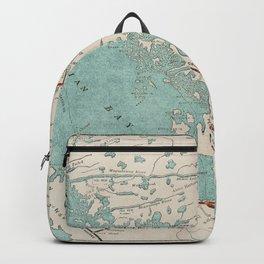 Vintage Map of Georgian Bay Backpack