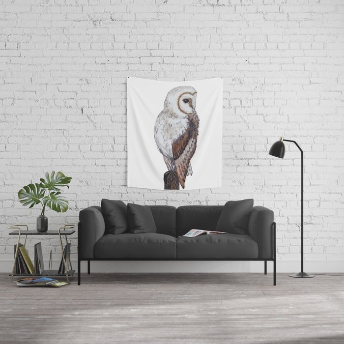 Barn Owl Wall Tapestry