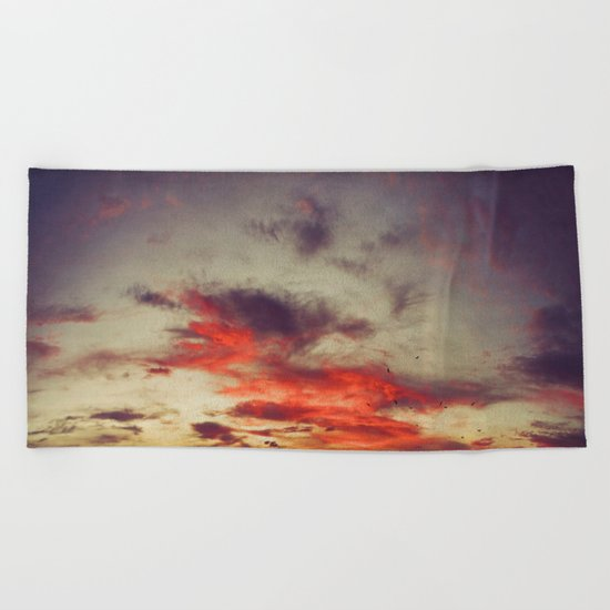 Supersaturated Dawn Beach Towel
