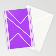 Irregular Chevron - The Purple Stationery Cards