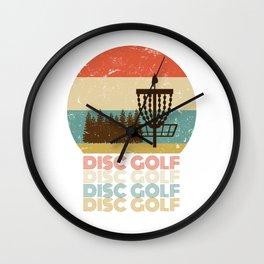 Disc Golf Discgolf Vintage Design Wall Clock