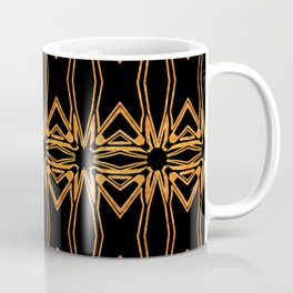 Brown And Gold Spider Web Coffee Mug