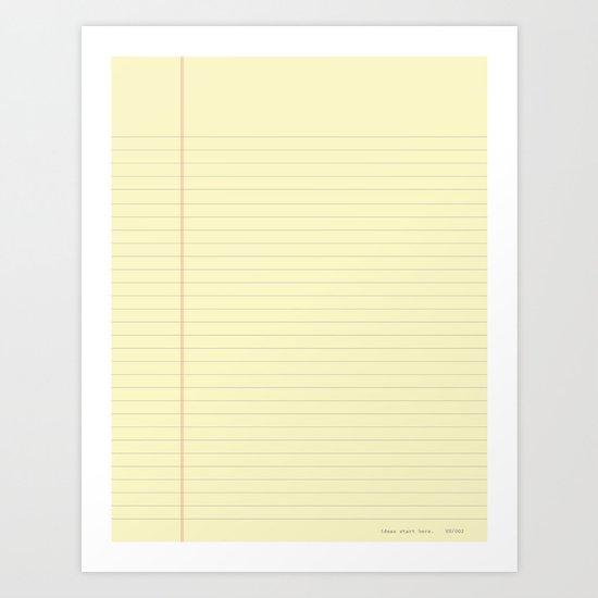 ideas start here 002 Art Print