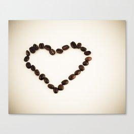 I Love You & Coffee Canvas Print