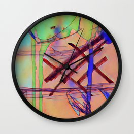 Abstract - a colour edit Wall Clock