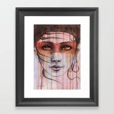 Amber Eyes Framed Art Print
