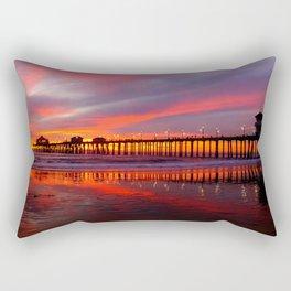 Sunset At The Pier * Huntington Beach, California Rectangular Pillow