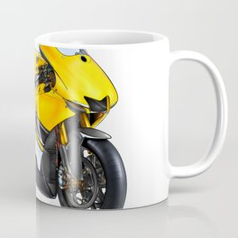 Motor cycle llustration color isolated art Coffee Mug