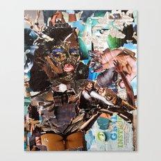 African Queen - Magazine Collage Canvas Print