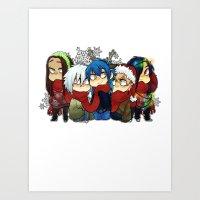 dmmd Art Prints featuring Dmmd Christmas  by lilbutt