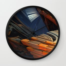 Between a Rock and a Hard Place Wall Clock