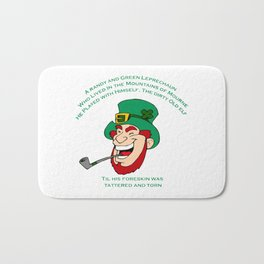 A Randy And Green Leprechaun St Patrick's Day Limerick Bath Mat