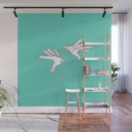 Gracious Oneline Hands Wall Mural