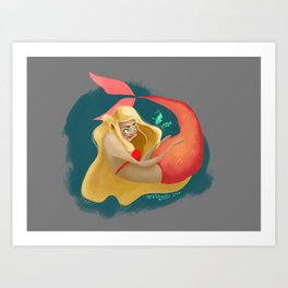 A Maid of La Mer  Art Print