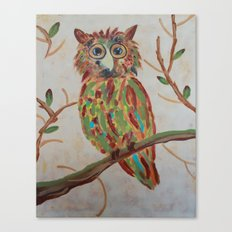 The Owl Of Colors Canvas Print